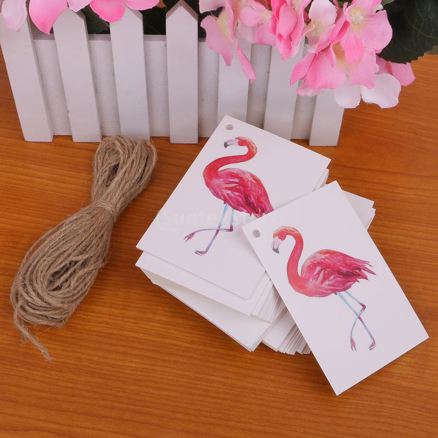 05f7f798bca48f 100pcs Mini Hang Tags Flamingo Party Decoration - Gifts Buddies Reviews