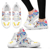 Watercolor Horse Women Sneakers (White)