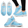 Horse Women's Sneakers Shoes (Blue)