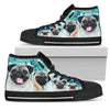 Blue Pugs Women's High Top - Gifts Buddies Reviews