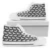 Grey Dachshund Men`s High Top  Shoe