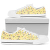 Pug Women's Low Top Shoes (Yellow)