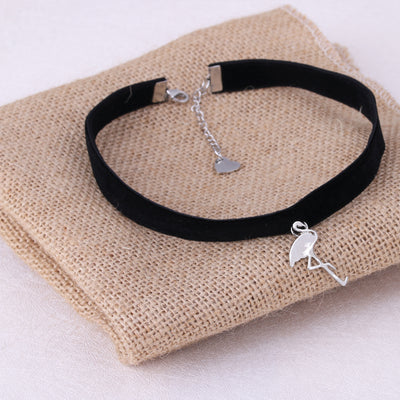 1Pc  Flamingo Black Velvet Rope Choker - Gifts Buddies Reviews
