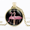 Pink Flamingo Glass Cabochon Necklace - Gifts Buddies Reviews