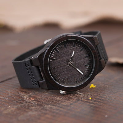 Black Wooden Watch - Gifts Buddies Reviews
