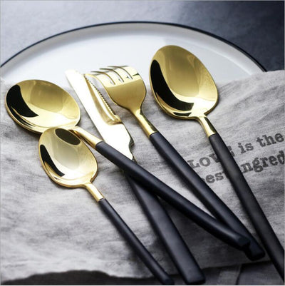 Gold Stainless Steel Dinnerware™ - Gifts Buddies Reviews