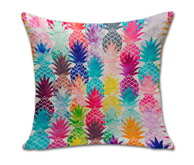 Colorful Pineapple Cotton Linen Cushion Cover - Gifts Buddies Reviews