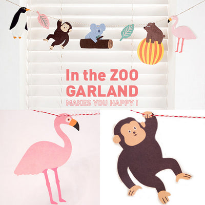 Cartoon Zoo Flamingo Garland Party Decoration - Gifts Buddies Reviews