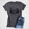 """Don't Be Negative"" Camera T-shirt"