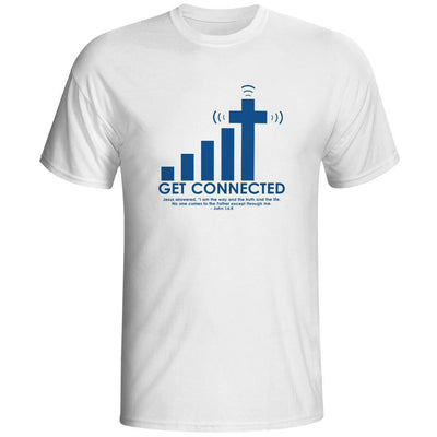 19 Styles Get Connected To Jesus T-Shirt , Color - 01 - Gifts Buddies Reviews