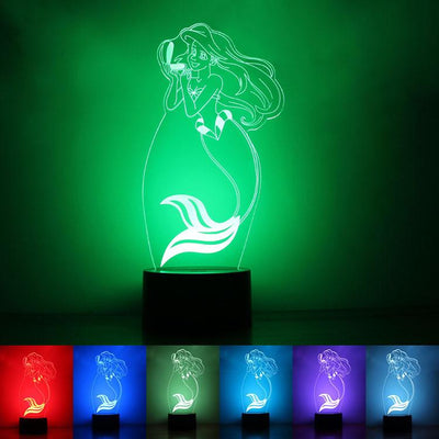 7 Color Changing Mermaid Princess LED Lamp - Gifts Buddies Reviews