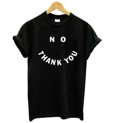 No Thank You Hipster T-Shirt