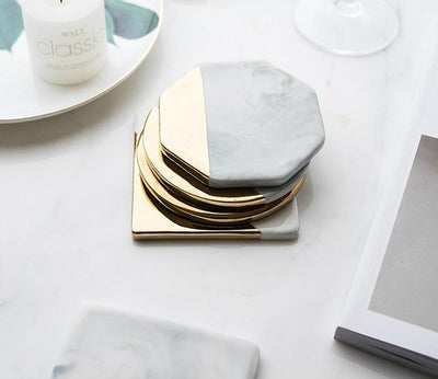 Gold Marble Ceramic Coaster - Gifts Buddies Reviews