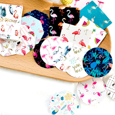 45Pcs Flamingo Paper Sticker For DIY Gift Craft - Gifts Buddies Reviews