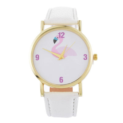 Pink Flamingo Leather Watch - Gifts Buddies Reviews