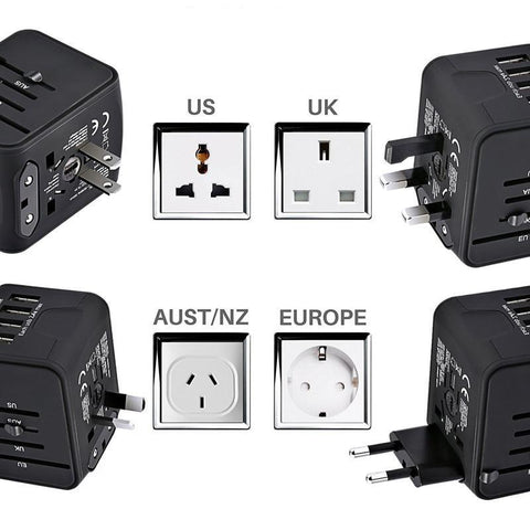 TravelBetter™ Universal International Travel Power Adapter W/Smart High Speed 3.4A 4xUSB Wall Charger