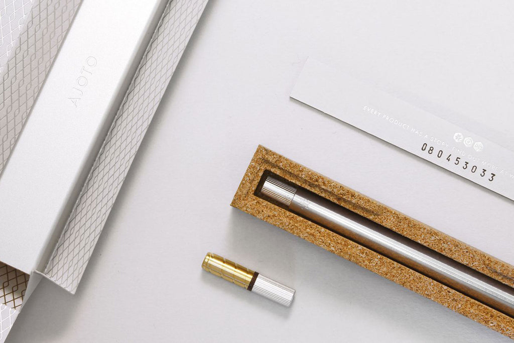 Ajoto pen set and packaging
