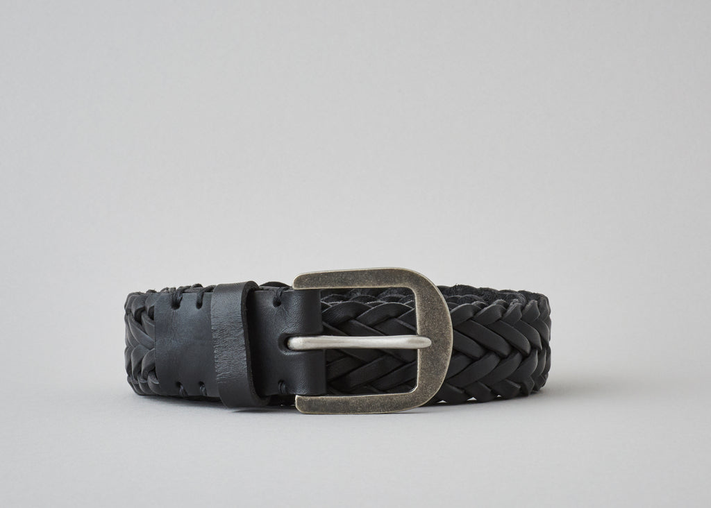 Braided Belt - Pitch Black / Pewter