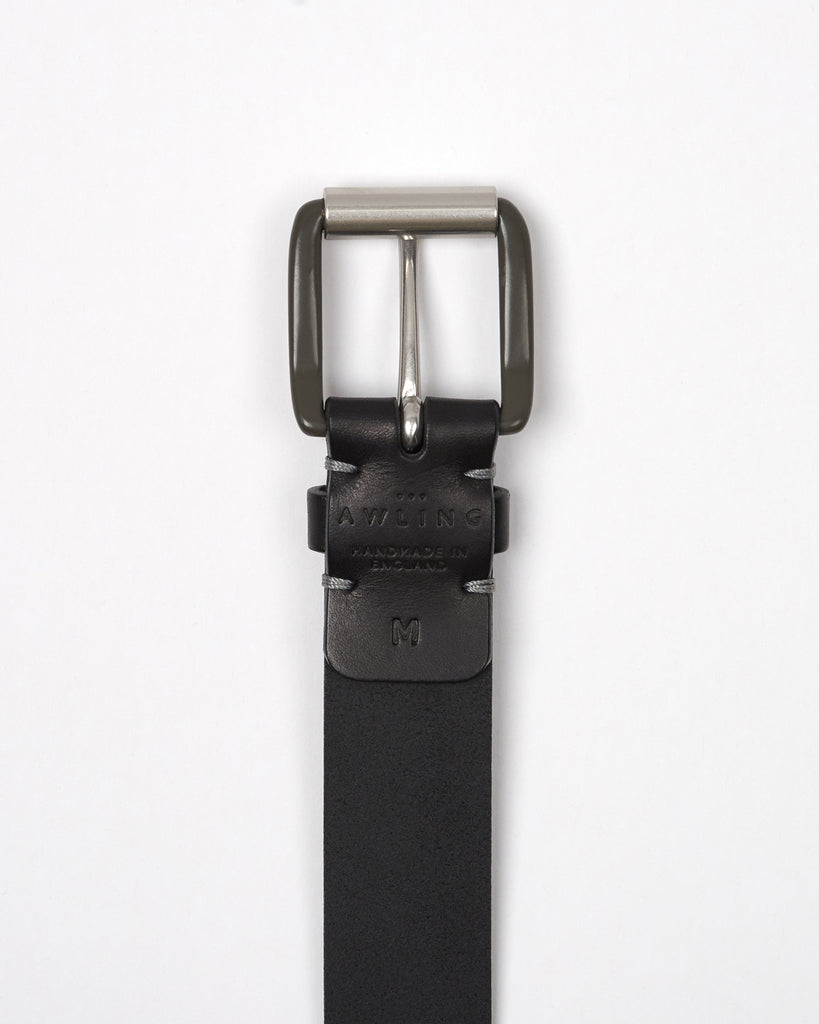 Modernist Exposed Belt - Pitch Black / Pewter