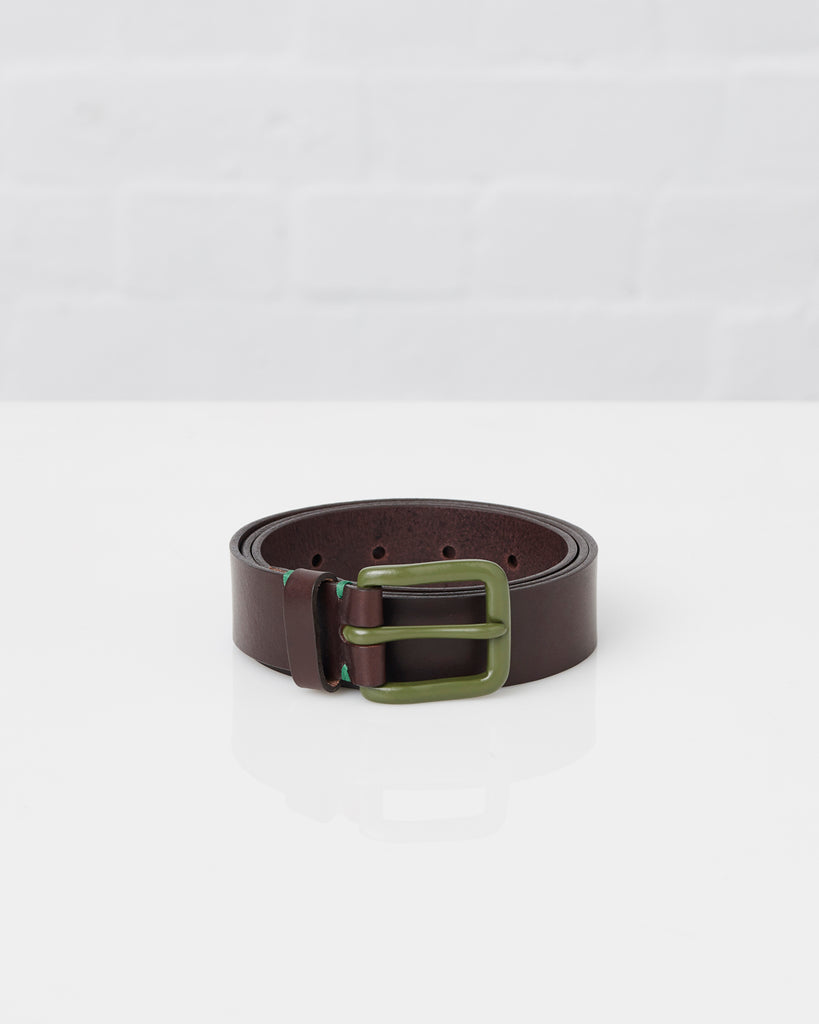 Modernist Belt - Walnut Brown / Olive