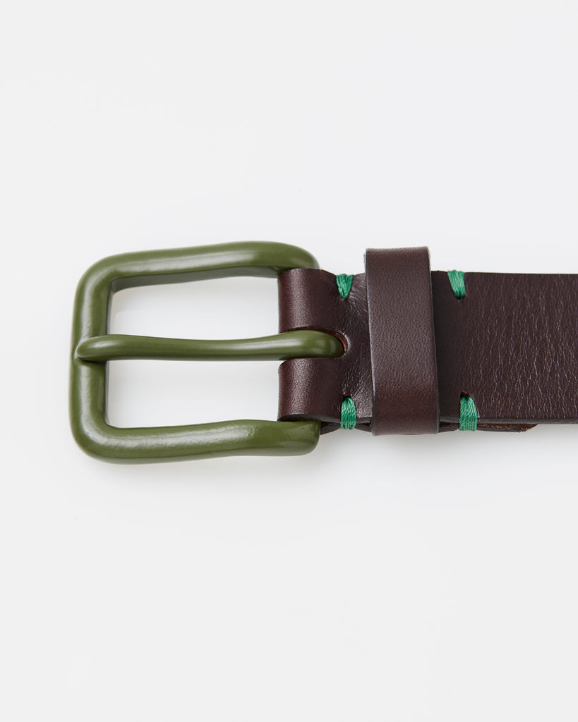 Modernist Belt - Walnut Brown / Olive [LIMITED EDITION]
