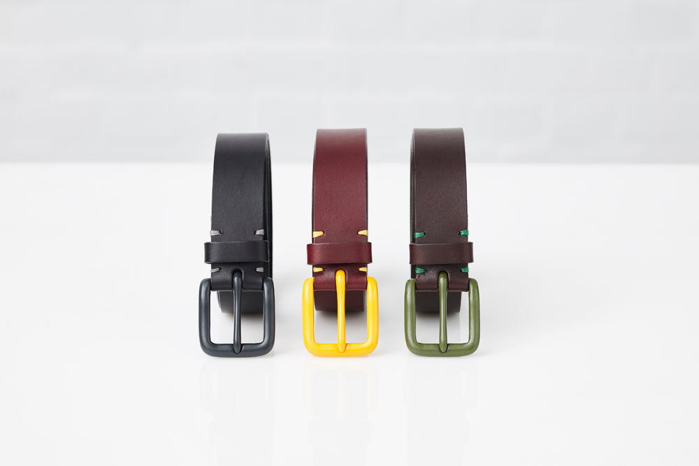 Modernist Belt - Oxblood / Mustard