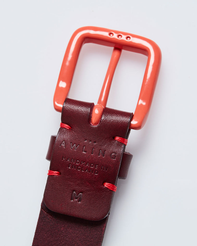 Modernist Belt - Oxblood / Terracotta