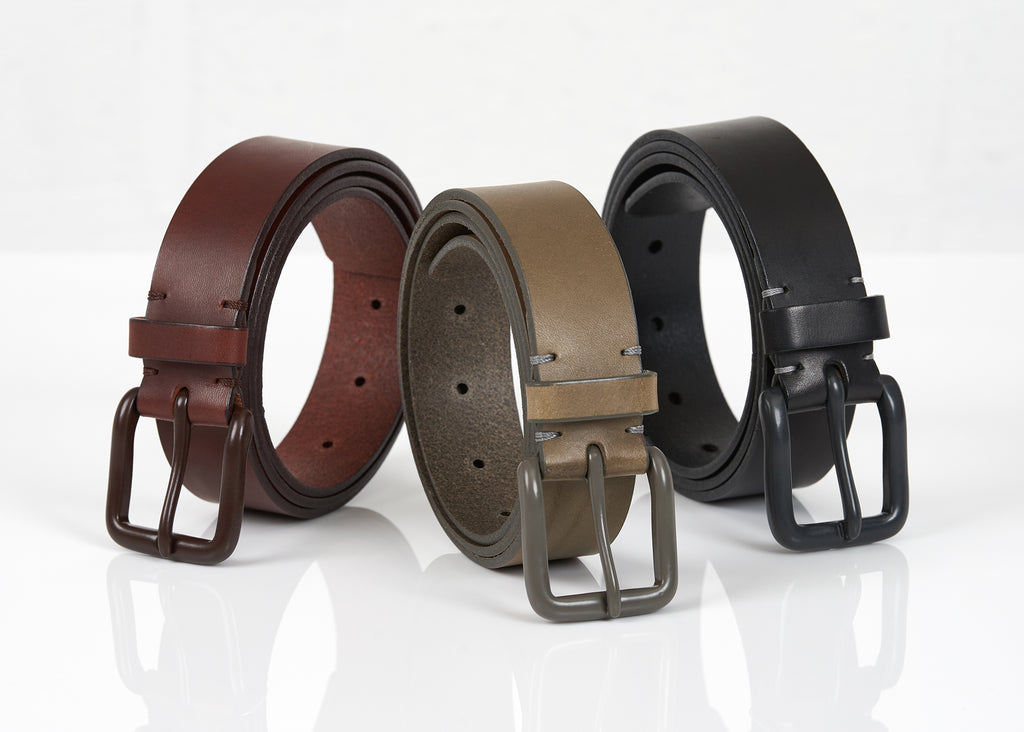 Modernist Belt - Pitch Black / Grey