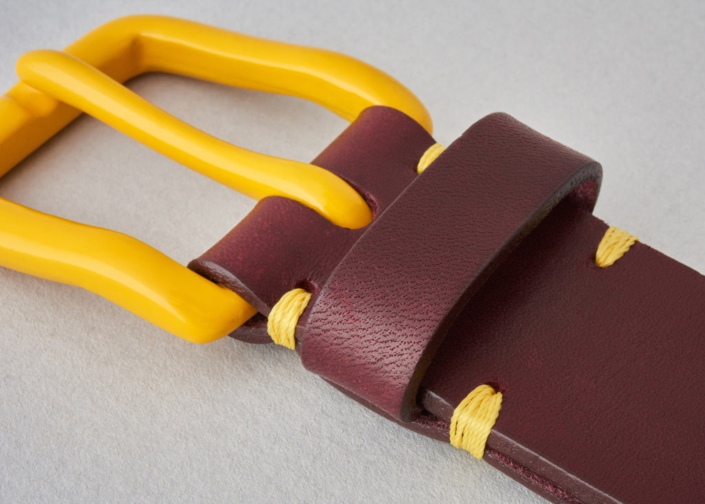 Modernist Belt - Oxblood / Mustard [LIMITED EDITION]
