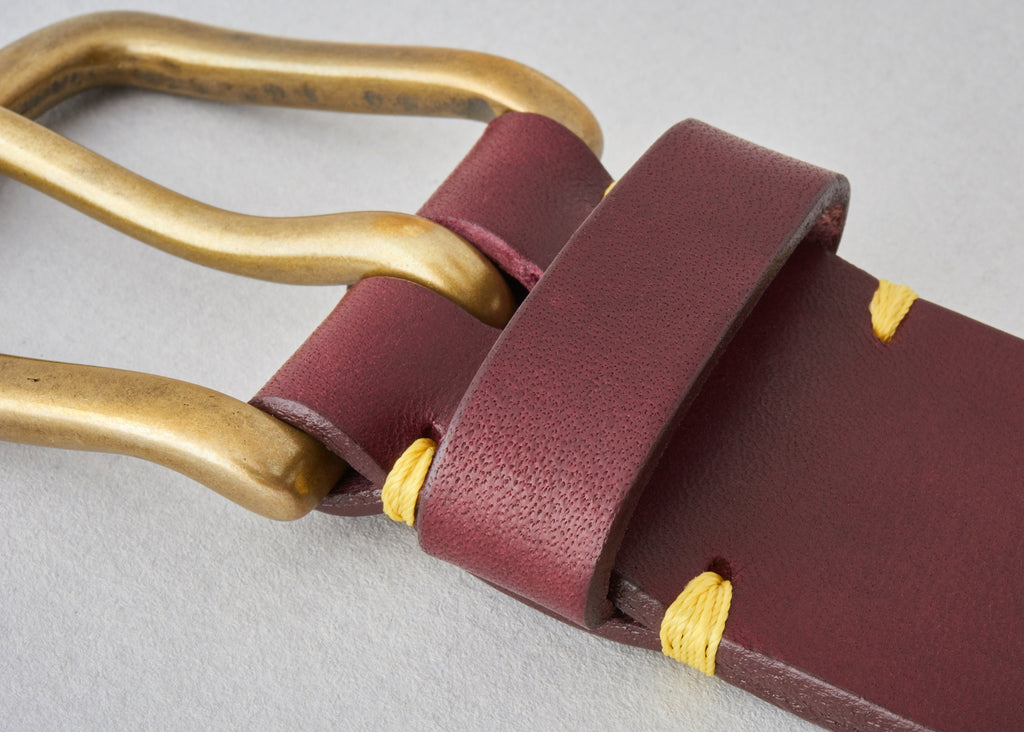 Original Belt - Oxblood / Brass