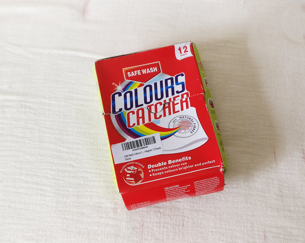 the colour catcher sheet I bought