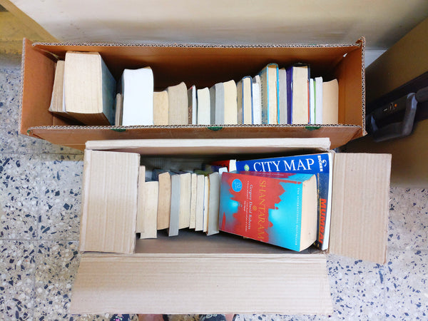The books I decided to get rid of after Konmari Method