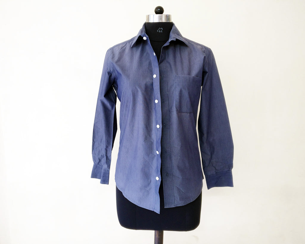 image of an old men's shirt for upcycle idea