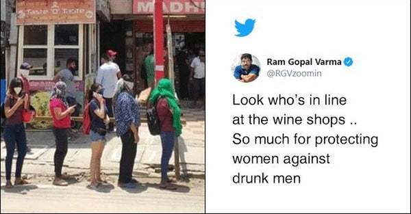 Stupid tweet by Ram Gopal Varma on the women in the queues for liguor shops
