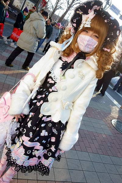 Tokyo street fashion with a mask - Lolita girl