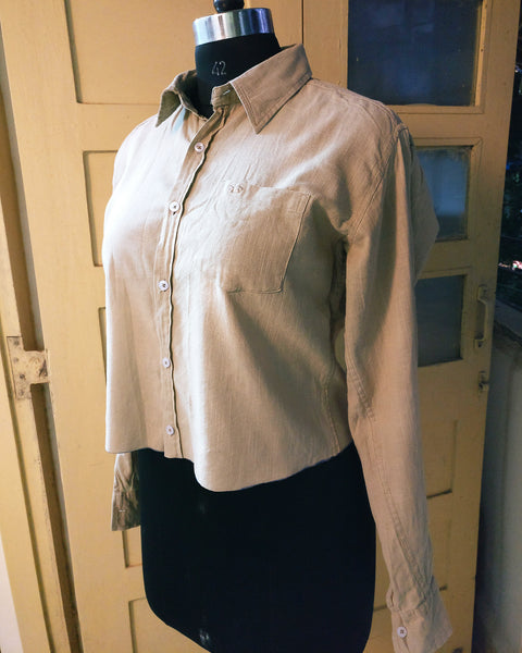 image of an old shirt for upcycling after adjusting the length 2