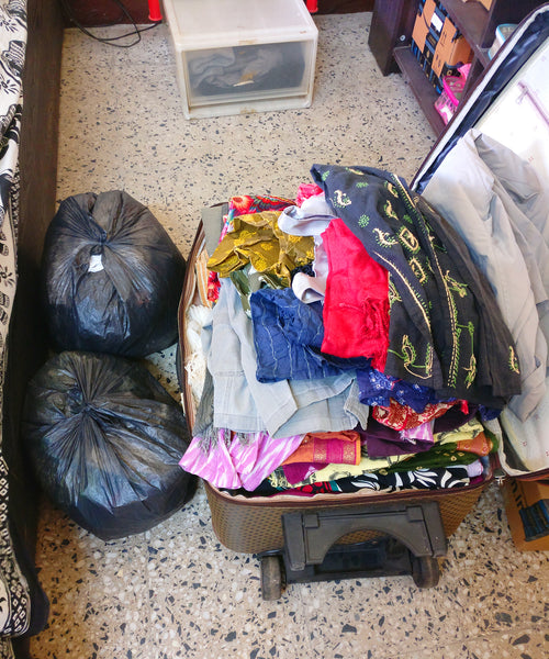 the clothes we got rid of after Konmari Method