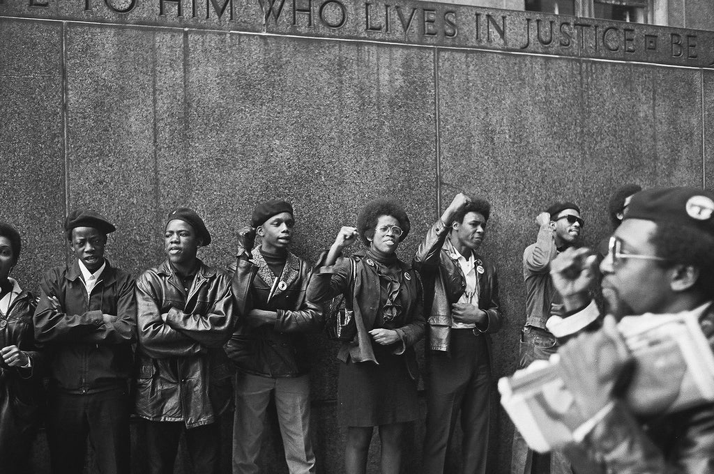 """Black Panther Party in their """"uniform"""""""