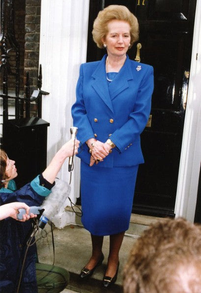 Image of Margaret Thatcher in jacket suits