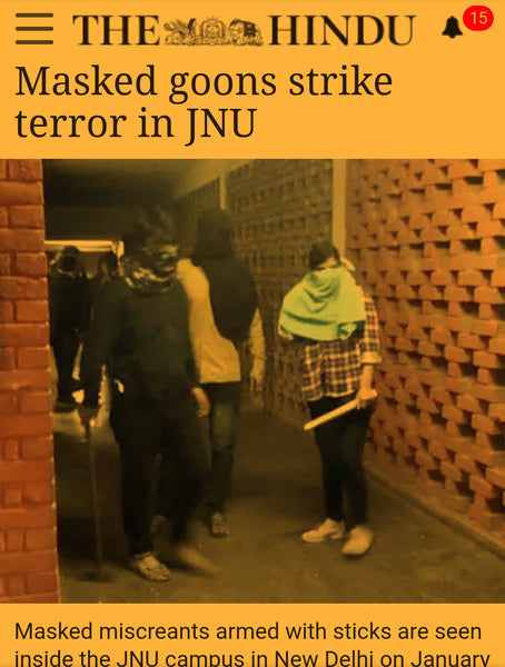 article about the goons who attacked JNU students