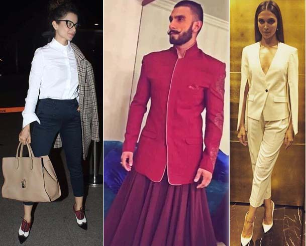 Image of Bollywood actors in Indian androgynous fashion