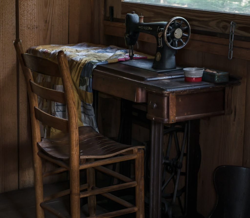 image of an old sewing machine