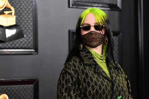 Billie Eilish with a mask at Grammy Awards