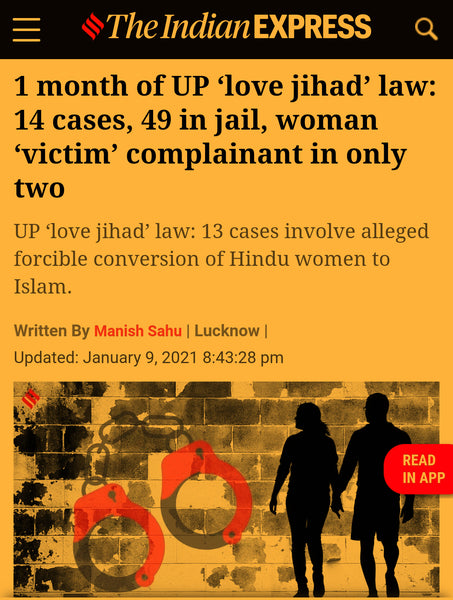 article about Love Jihad law