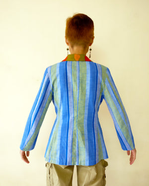 Blazer Jacket - Cool Stripe (Blue)