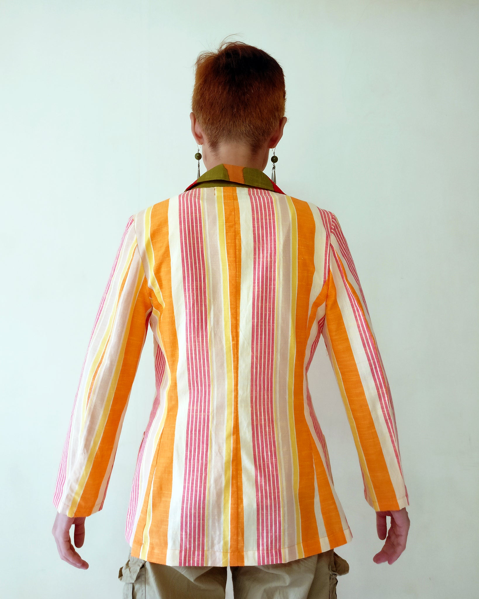 Blazer Jacket - Cool Stripe (Orange)