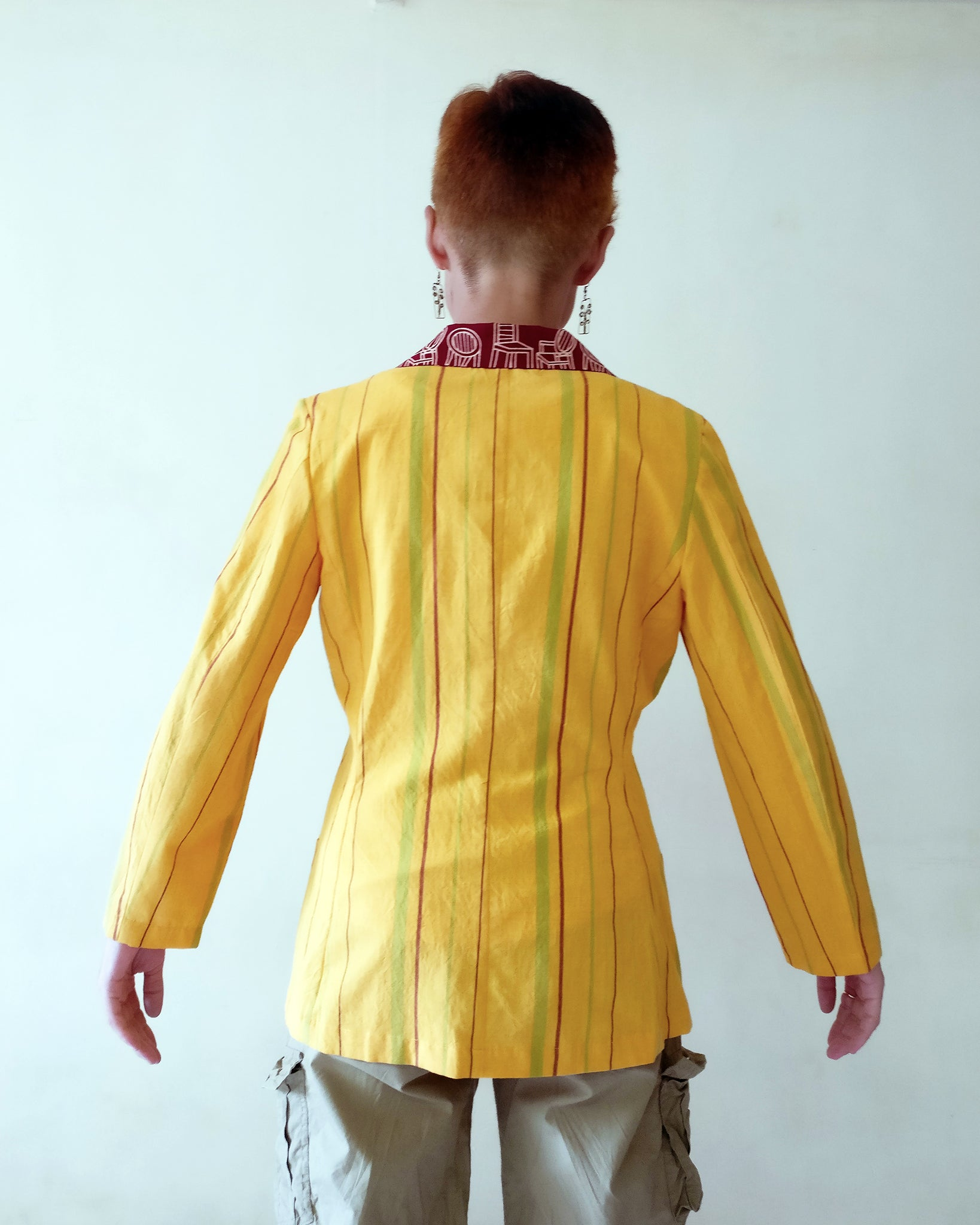 Blazer Jacket - Warm Stripe (Yellow)