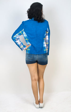 Short Blazer Jacket - Lungi (Blue)