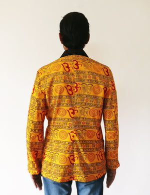 Men's Blazer Jacket - Om Print