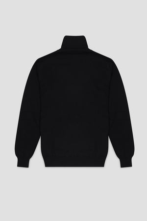 Mens cashmere turtleneck black
